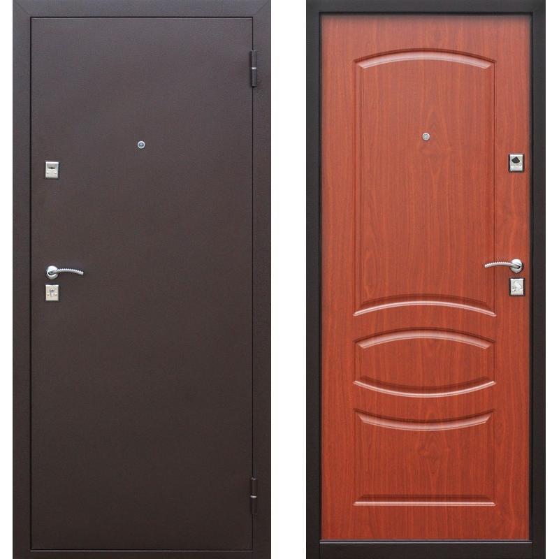 двери входные железные цвет ореховы